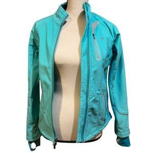 Athleta Blue Teal Zip Up Jacket Coat